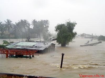 Tả cảnh lũ lụt