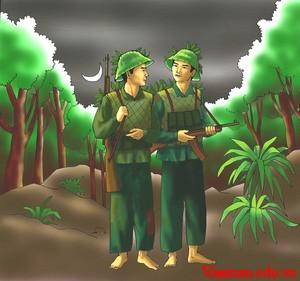 1137 - Vẻ đẹp người lính trong khổ thơ cuối bài Đồng chí