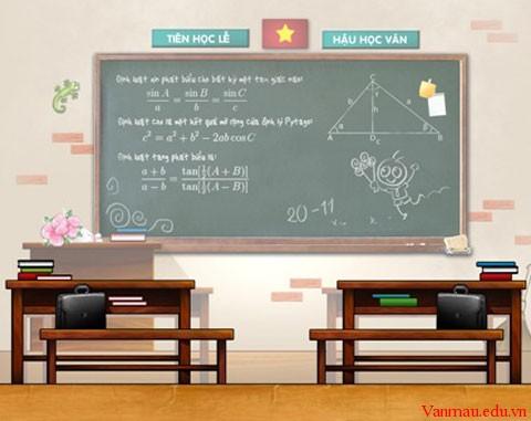 3ard - Tả cái bảng lớp học của các em