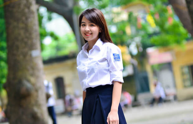 anh girl xinh hoc sinh cap 3 rang khenh - Tả cơn mưa mùa xuân